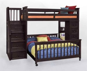 ne kids l shaped bunk bed with stairs