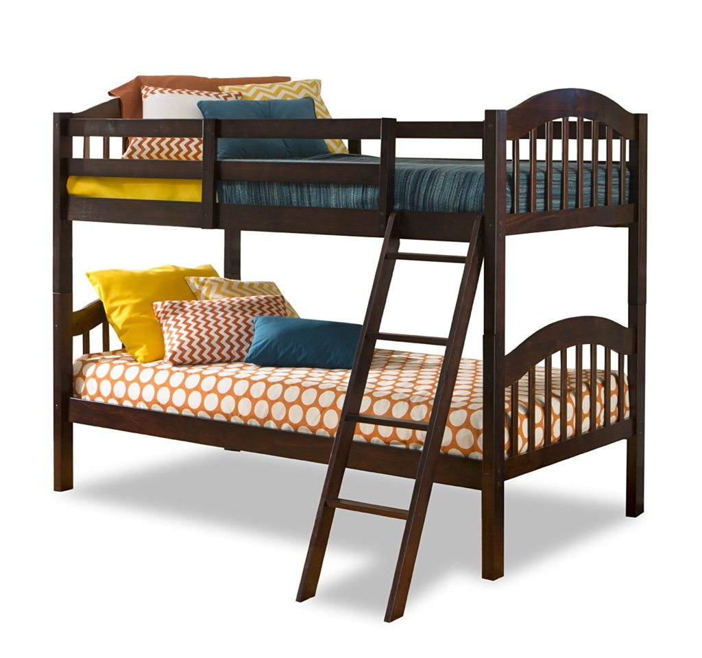 storkcraft long horn solid hardwood l shaped twin bunk bed